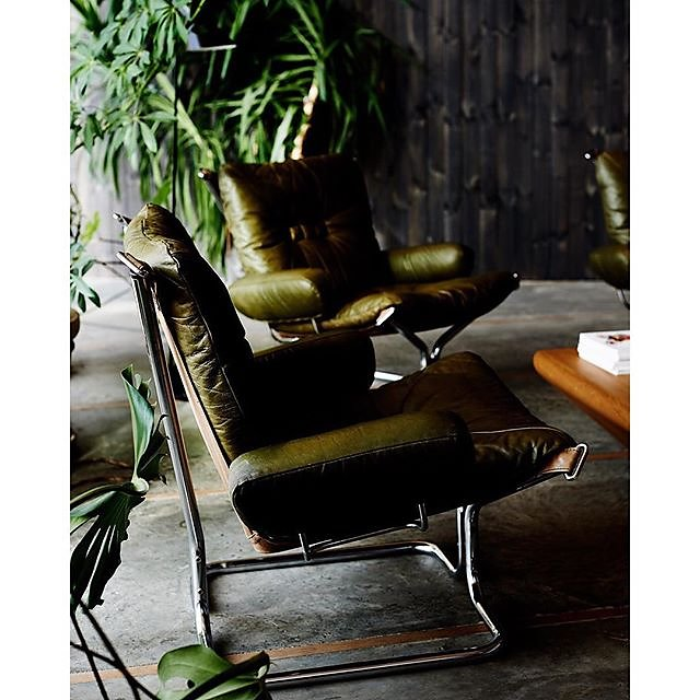 Green is the colour - 1970's design classic chairs by Harald Relling in the home of Johan Gjendem & Vibeke Rognan in Oslo shot for Modern Rustic by Emily Henson @lifeunstyled #modernrustic #green #ilovethisbook