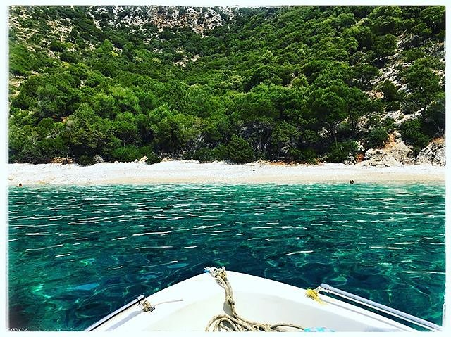 Empty beach, emerald waters - Ithaki ..... #ithaki #greece