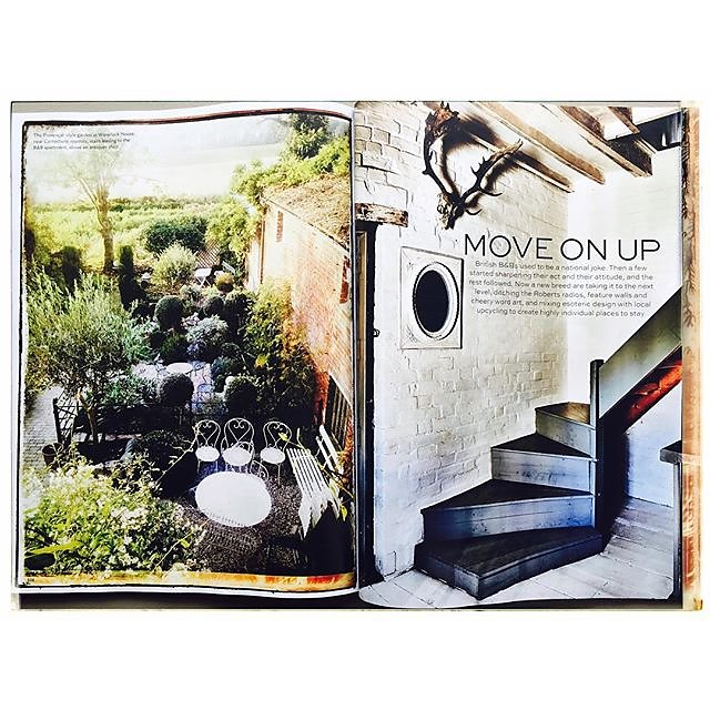 Delighted to have some pics in the September Issue of Condé Nast Traveller - 'Move On Up - The New Breed of British B&B's' - always such creative & inspiring layouts -  thanks @condenasttraveller @cntraveler Stylist : Hester Page #condenasttraveller #bran