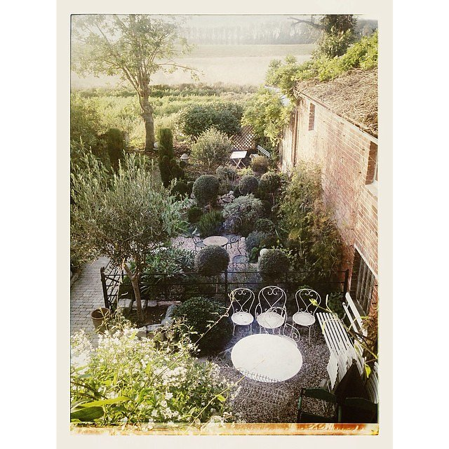 The beautiful garden at yesterday's shoot @ Branching Out Antiques, Wingham, Kent.