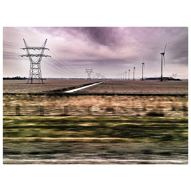Lilac skies...enroute to Zwolle...