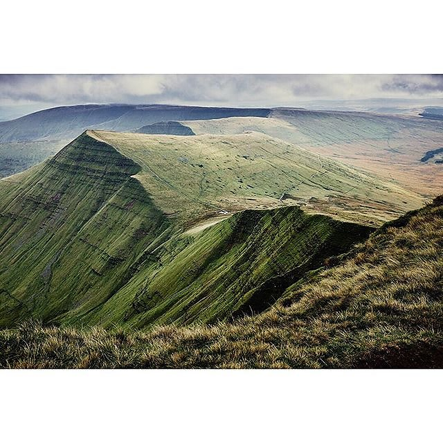 Sensational views from Pen-y-Fan, the highest mountain in Wales, of Cribyn...
